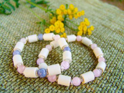 Браслет c ЭМ-керамикой и натуральными камнями