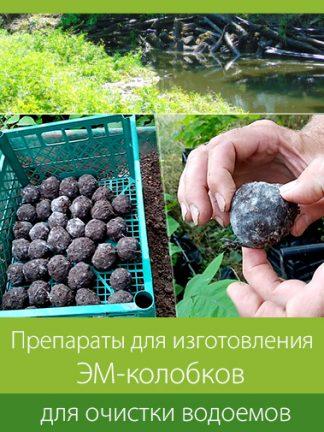 Препараты для изготовления ЭМ-колобков, для очистки водоемов